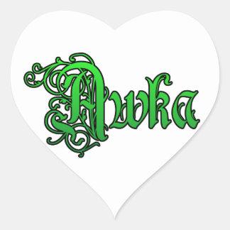 Africankoko Custom,southeastern, Nigeria Heart Sticker