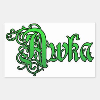 Africankoko Custom,southeastern, Nigeria Rectangular Sticker