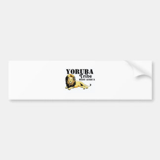 Africankoko Custom Yoruba Tribe(Nigeria) Bumper Sticker