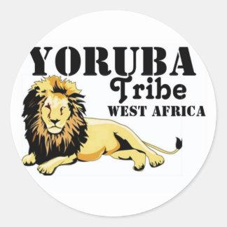 Africankoko Custom Yoruba Tribe(Nigeria) Classic Round Sticker