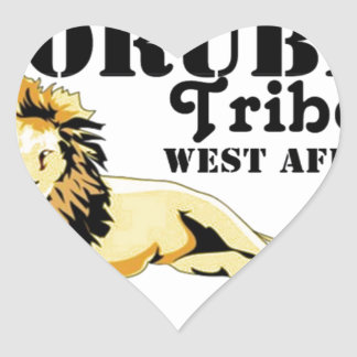 Africankoko Custom Yoruba Tribe(Nigeria) Heart Sticker