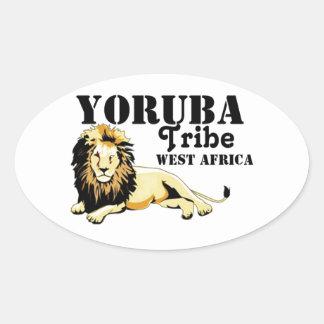 Africankoko Custom Yoruba Tribe(Nigeria) Oval Sticker