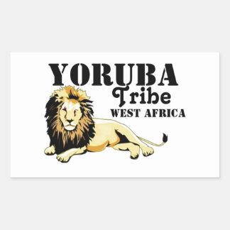 Africankoko Custom Yoruba Tribe(Nigeria) Rectangular Sticker