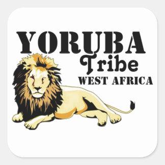 Africankoko Custom Yoruba Tribe(Nigeria) Square Sticker