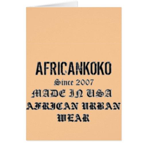 Africankoko Customized Brand Card