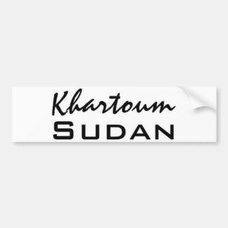 Africankoko Jartum de encargo, Sudán Etiqueta De Parachoque