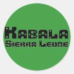 Africankoko Kabala de encargo, Sierra Leone Pegatinas Redondas