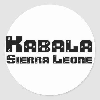 Africankoko Kabala de encargo, Sierra Leone Pegatina Redonda