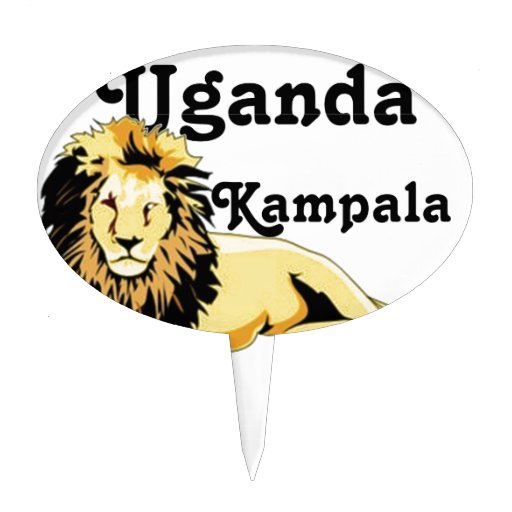 Africankoko Kampala de encargo, Uganda Figura Para Tarta