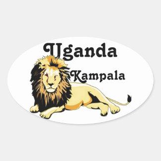 Africankoko Kampala de encargo, Uganda Pegatina Ovalada