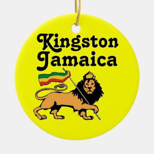 Africankoko Kingston de encargo, Jamaica Adorno Navideño Redondo De Cerámica