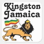 Africankoko Kingston de encargo, Jamaica Calcomanía Cuadradas Personalizada