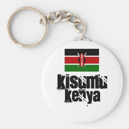 Africankoko Kisumu de encargo, Kenia Llavero Redondo Tipo Pin
