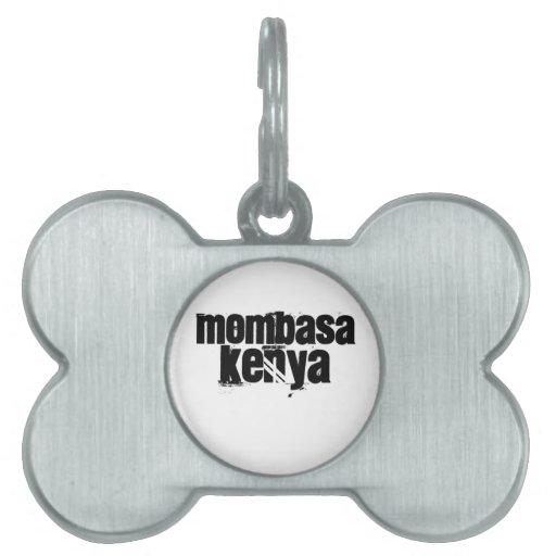Africankoko Mombasa de encargo, Kenia Placas De Nombre De Mascota
