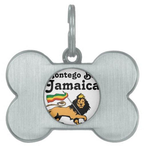 Africankoko Montego Bay de encargo, Jamaica Placa De Nombre De Mascota