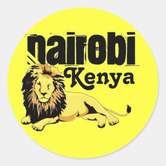Africankoko Nairobi de encargo, Kenia Pegatina Redonda