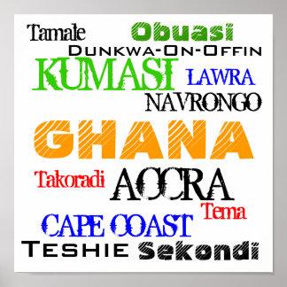 AFRICANKOKO POR GHANA POSTERS