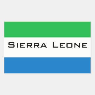 Africankoko, Sierra Leona Pegatina Rectangular
