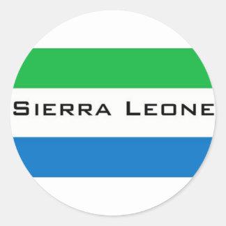 Africankoko, Sierra Leona Pegatina Redonda