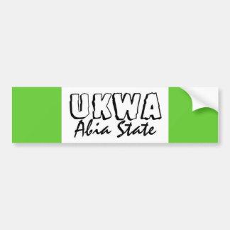 Africankoko Ukwa de encargo, AbiaState, Nigeria Etiqueta De Parachoque