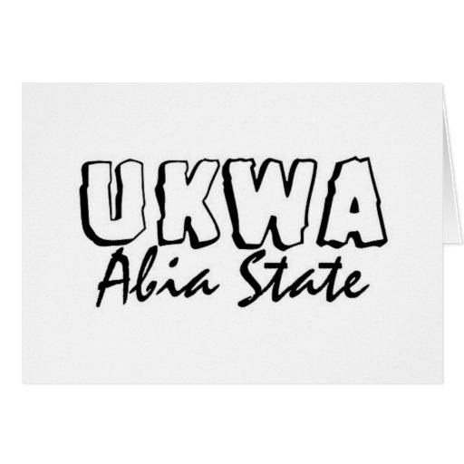 Africankoko Ukwa de encargo, AbiaState, Nigeria Tarjetón