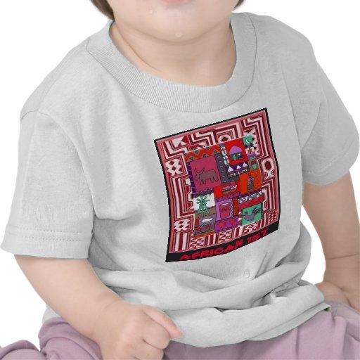 Africano 1r - Vida del pueblo - arte de Aftrican Camisetas