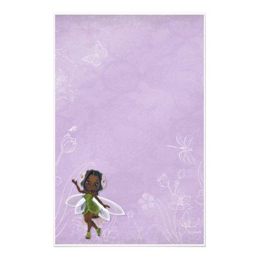 Africano de hadas de la flor papelería