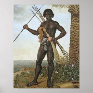 Africano de Homem (hombre africano) por Albert Eck Póster