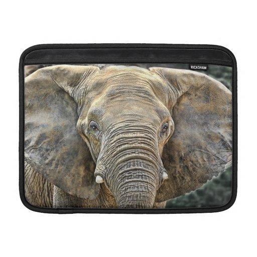 Africano del elefante todos los oídos fundas macbook air