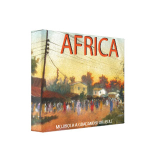 AFRICANO LA PATRIA (2) POR MOJISOLA A GBADAMOSI LIENZO ENVUELTO PARA GALERIAS