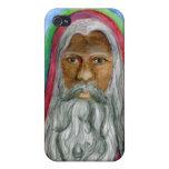 Africano negro Santa pintado a mano iPhone 4 Cobertura