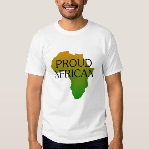 Africano orgulloso playeras
