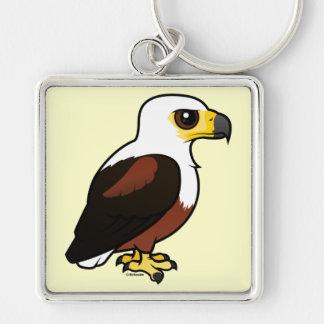 Africano Pescado-Eagle de Birdorable Llavero Cuadrado Plateado