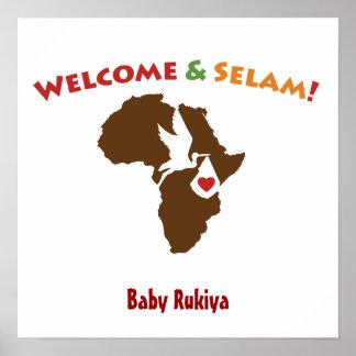 Africano - poster casero agradable