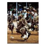 Africanos del sur de la danza africana postal