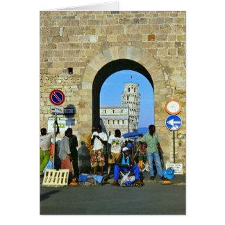 Africanos en Pisa, Italia Tarjeta De Felicitación