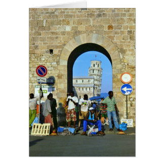 Africans in Pisa, Italy Greeting Card