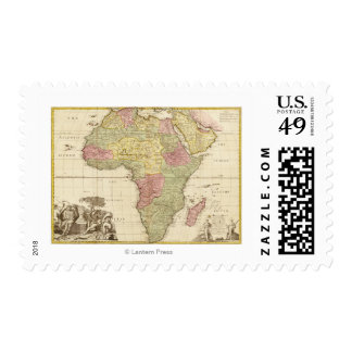 AfricaPanoramic MapAfrica 3 Postage