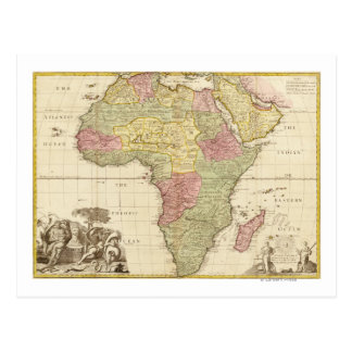 AfricaPanoramic MapAfrica 3 Tarjetas Postales