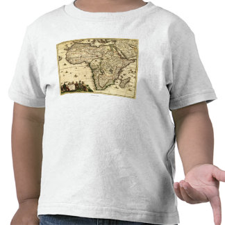 AfricaPanoramic MapAfrica Camisetas