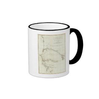 Áfricas occidentales con las notas geográficas taza de café
