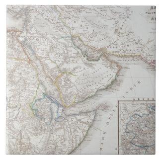 Áfricas occidentales y Arabia Azulejo Cuadrado Grande