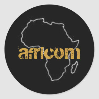 africom classic round sticker