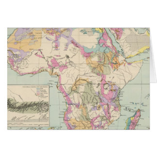 Afrika - Atlas Map of Africa Card