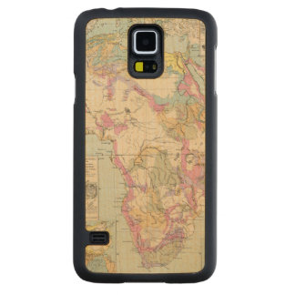 Afrika - Atlas Map of Africa Carved® Maple Galaxy S5 Slim Case
