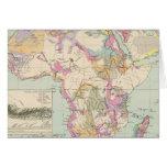 Afrika - Atlas Map of Africa Greeting Card