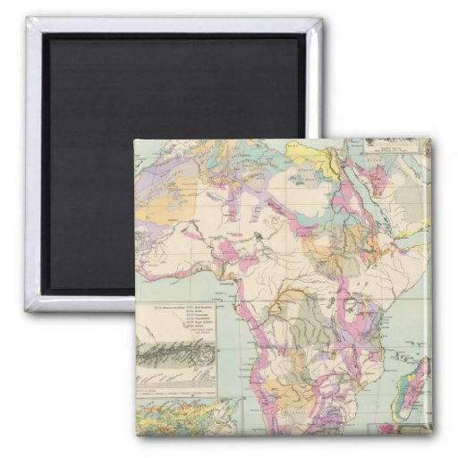 Afrika - Atlas Map of Africa Magnet