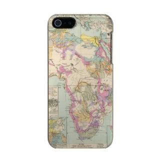 Afrika - Atlas Map of Africa Metallic iPhone SE/5/5s Case