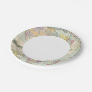 Afrika - Atlas Map of Africa Paper Plate