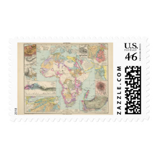 Afrika - Atlas Map of Africa Stamps